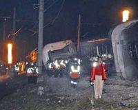 Столкновение поездов в Германии