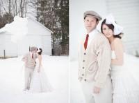 Аксессуары на зимнюю свадьбу